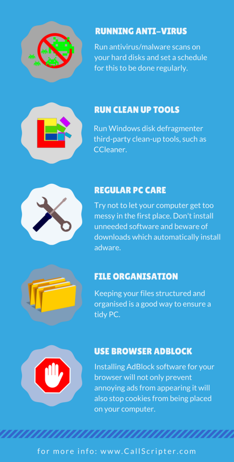 Keep your pc clean Infographic 2
